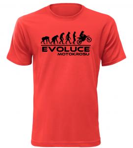 Pánské tričko Evoluce Motokrosu červené