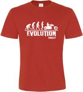 Pánské tričko Evolution Harley červené