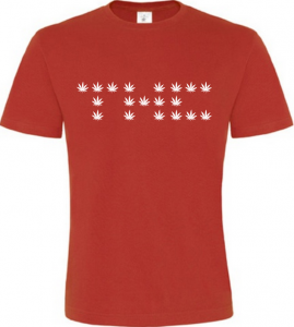 THC pánské červené tričko