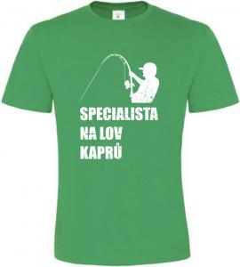 Pánské rybářské tričko Specialista na kapry zelené