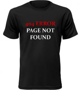 404 ERROR černé tričko pánské