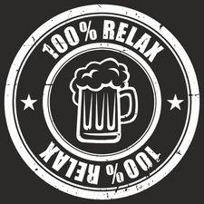 100% Relax BEER černé tričko pánské