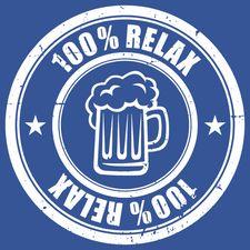 100% Relax BEER modré tričko pánské