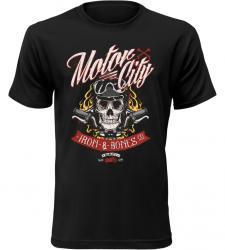 Pánské tričko pro motorkáře Motor City černé