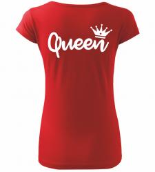 Dámské tričko Queen červené 0d2d90ce47
