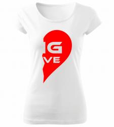 Dámské tričko BIG LOVE bílé 93baf6b8ef