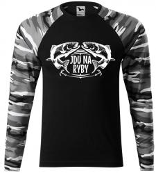 47014e48fc6c Pánské tričko pro rybáře Jdu na ryby