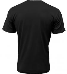 Pánské rybářské tričko Zrozen pro rybaření černé