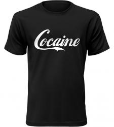 Pánské vtipné tričko Cocaine černé