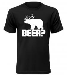 82ed2bb35102 Pánské vtipné tričko BEER bílé