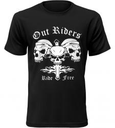 Pánské motorkářské tričko Out Riders černé