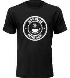 100% Relax Coffee černé tričko