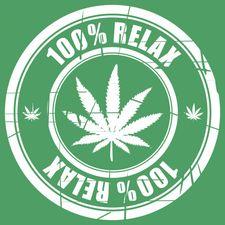 100% Relax THC zelené tričko